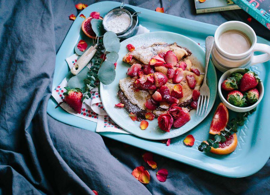 Crepes dolci con fragole