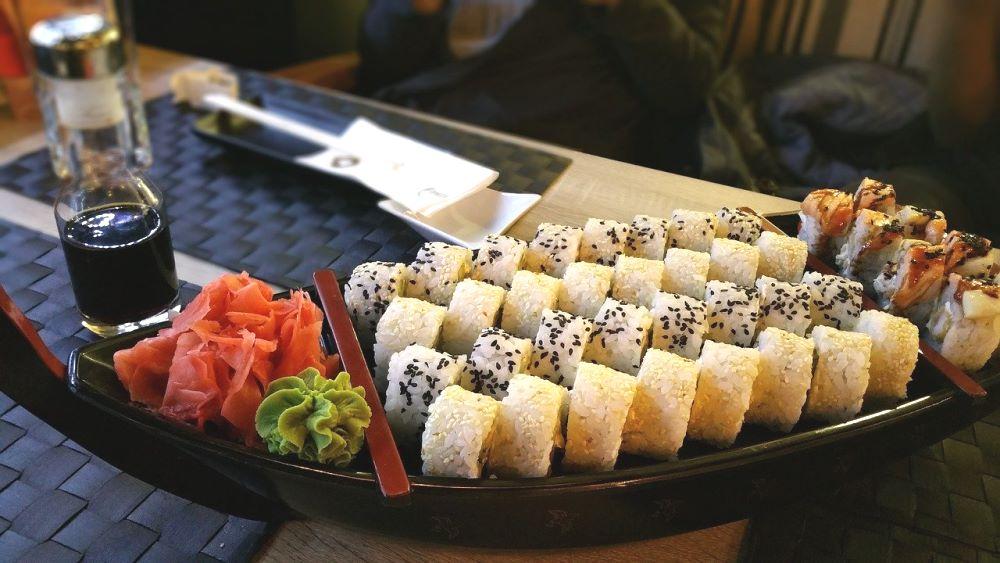 Zenzero marinato e sushi