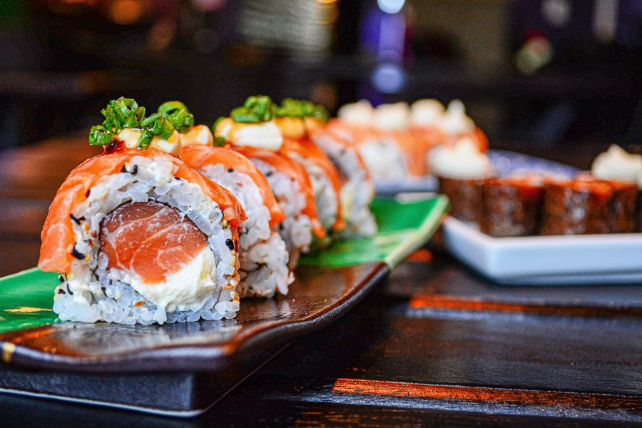 Sushi, pesce crudo
