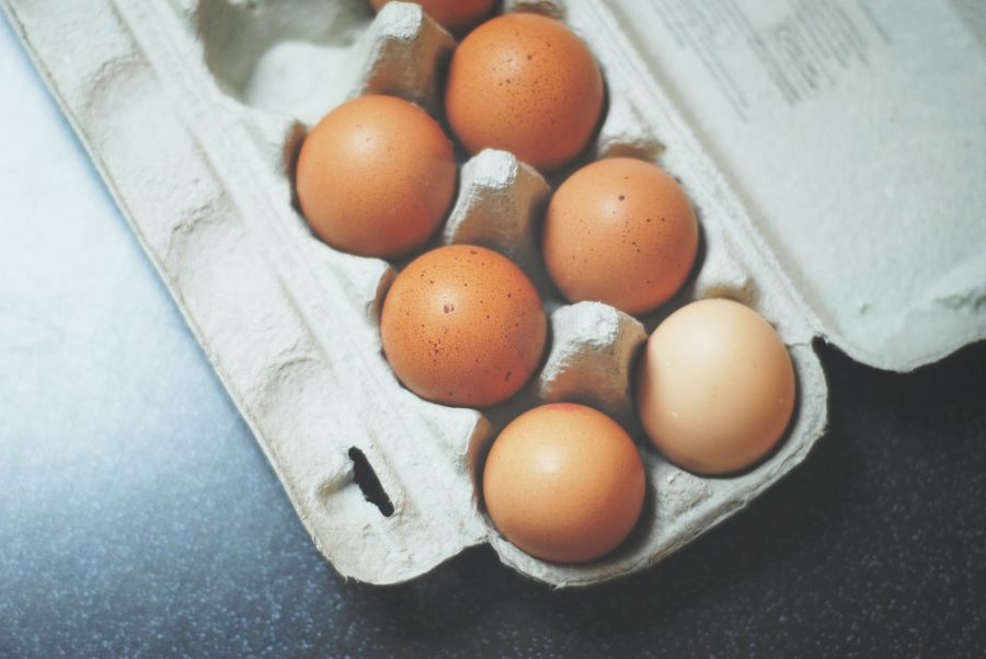 Uova ricche di ferro