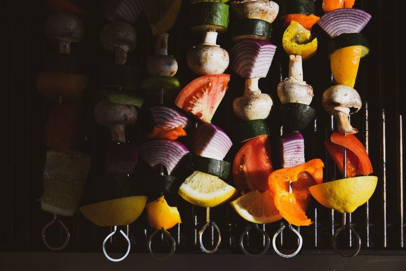 Grigliare verdure con la funzione grill