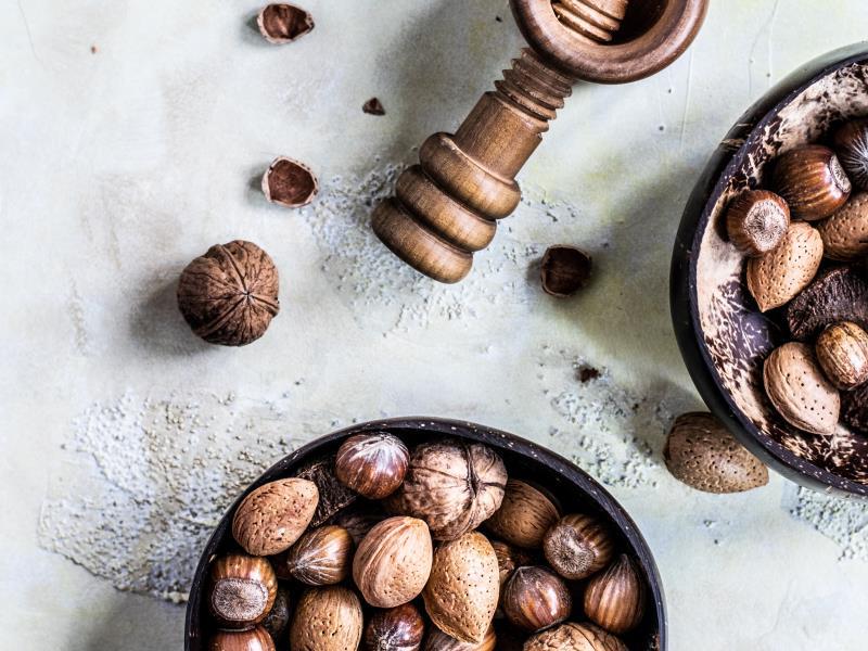 Alimenti ricchi di nichel: frutta secca