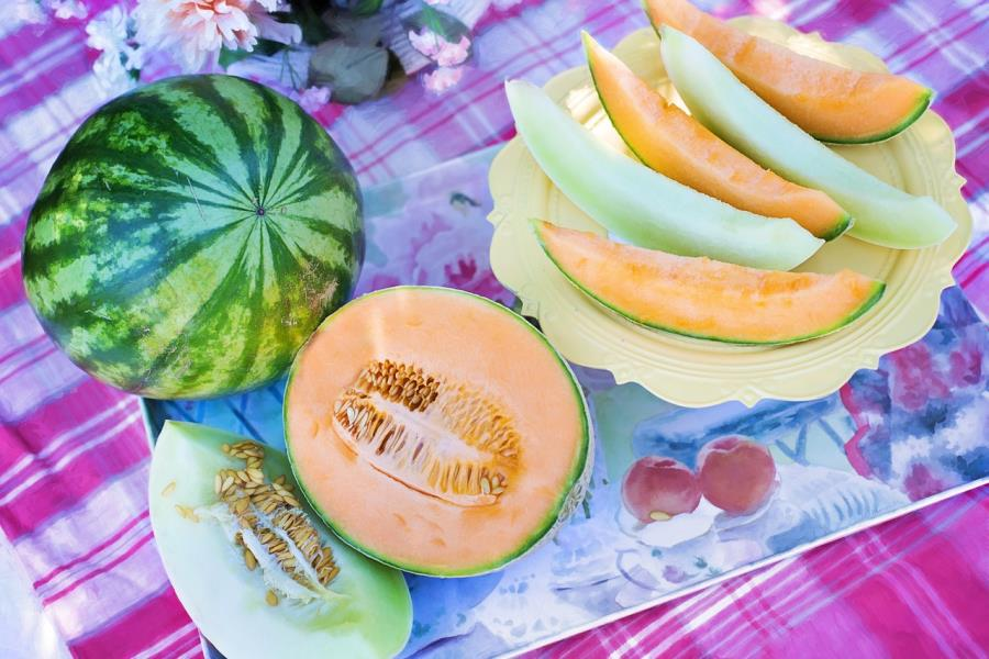 Frutta estiva: anguria e melone